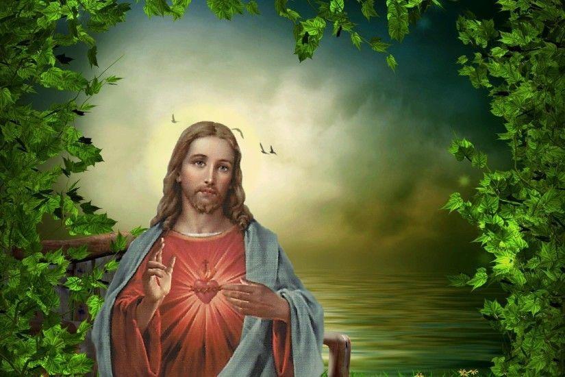 Free Sacred Heart Of Jesus Desktop Wallpaper Jesus Wallpaper Jesus Images Jesus Photo