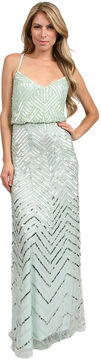 Adrianna Papell Long Blouson Dress in Mist on shopstyle.com
