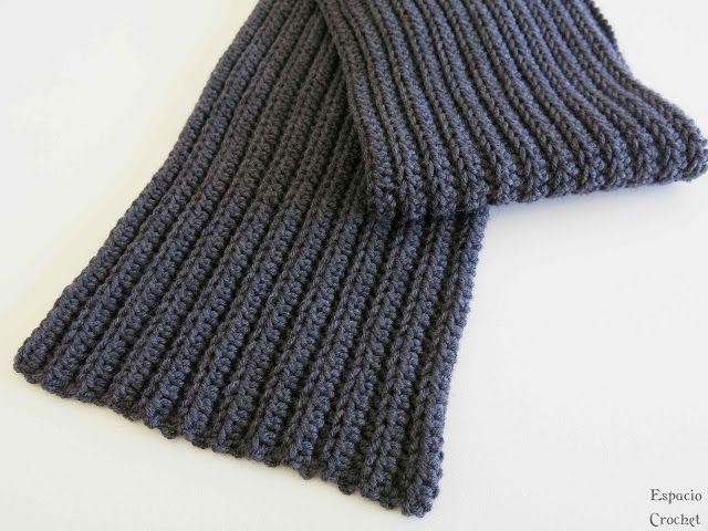 Para estrenar fe604 9c54e Bufanda hombre...ganchillo | facebook | Bufandas, Crochet ...