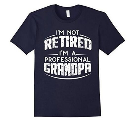 Mens Retirement Gifts For Grandpa TShirt Fathers Day Gift Letter
