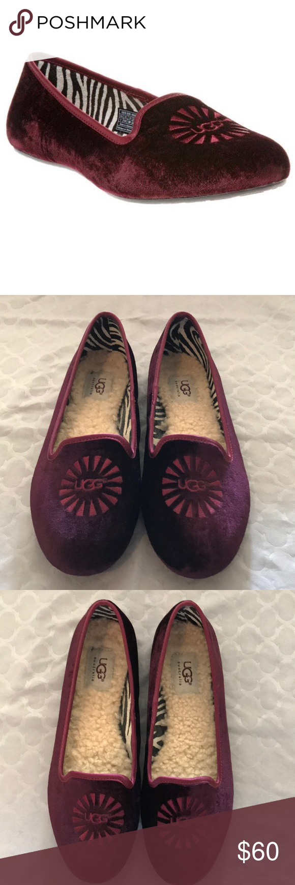 7b1e52a576e UGG Alloway Loafer Beautiful maroon color, no damage and has been ...