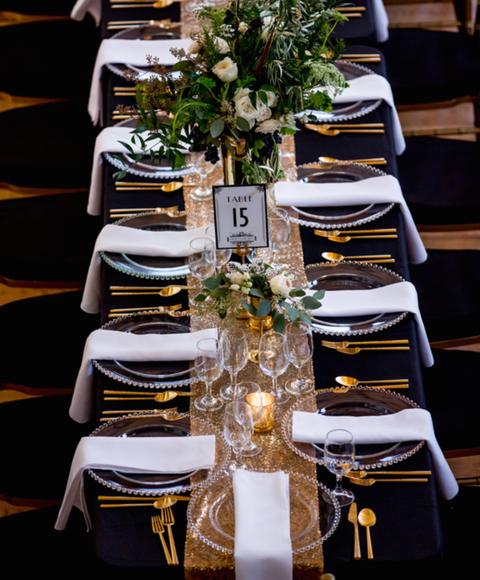 Art Deco Wedding Centerpieces Another Stunning Elegant Tablescape For The Perfect Bride