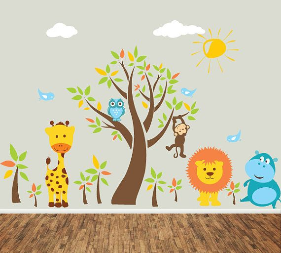 Nursery wall decal kids wall sticker 3 scrapbook ideas for Stickers pared ninos