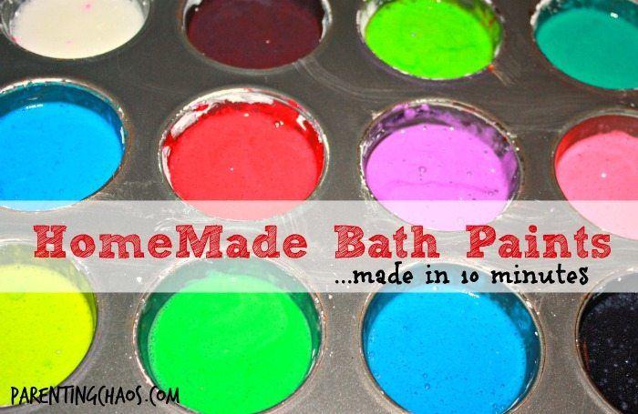 Homemade Bath Paints Recipe Homemade Bath Products
