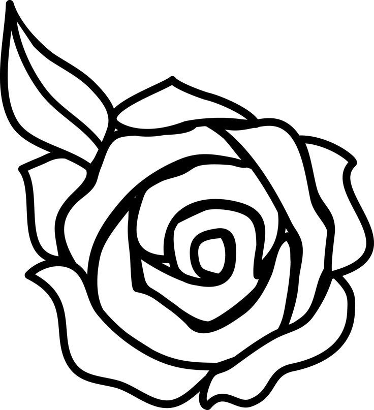 Coloring Page:Decorative Rose Simple Drawing Drawings Of Flowers ...
