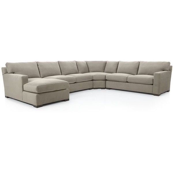 Awesome Crate Barrel Axis Ii 4 Piece Sectional Sofa Nickel Inzonedesignstudio Interior Chair Design Inzonedesignstudiocom