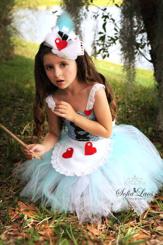 Alice in Wonderland inspired dress and by SofiasCoutureDesigns, $69.00