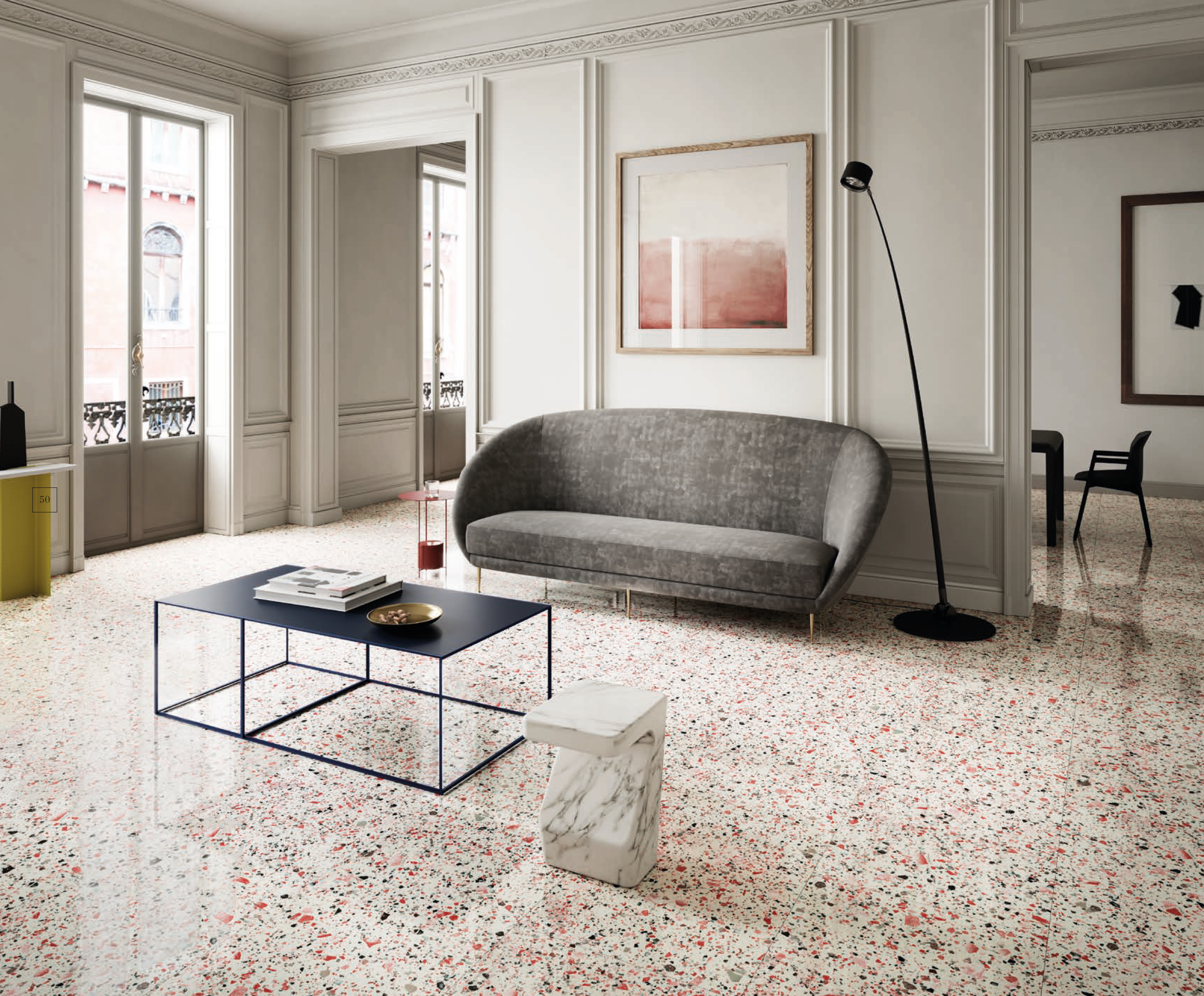 VT.457 White & Red Terrazzo Look Tile from Eco Friendly