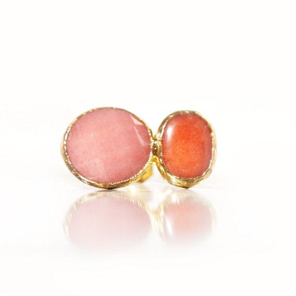 Jade Naranja y Cuarzo Rosa
