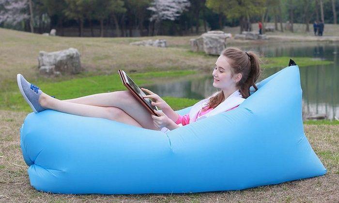 Surprising Bargain 29 Was 69 Inflatable Air Lounger Groupon Uwap Interior Chair Design Uwaporg