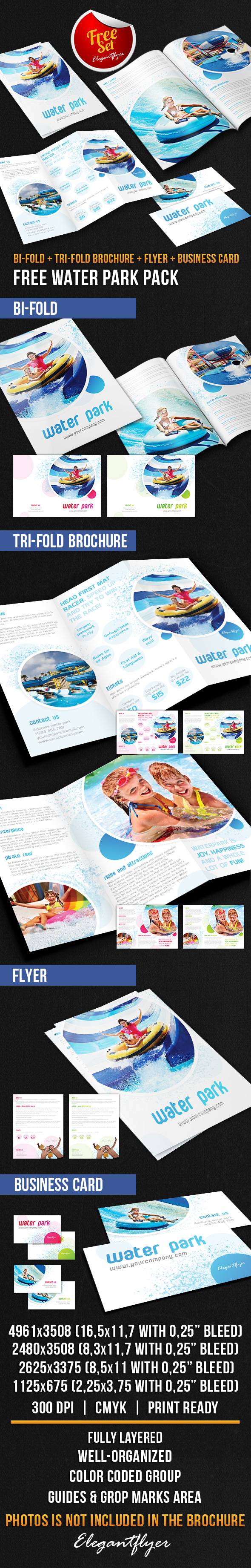 Water Park Brochure Pack Free Psd Template Psd Templates