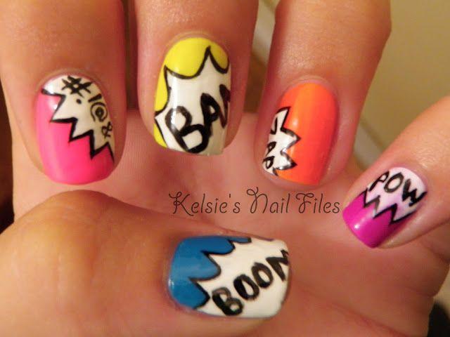 Kelsie's Nail Files: Geek Nail Challenge: Comic Exclamations!