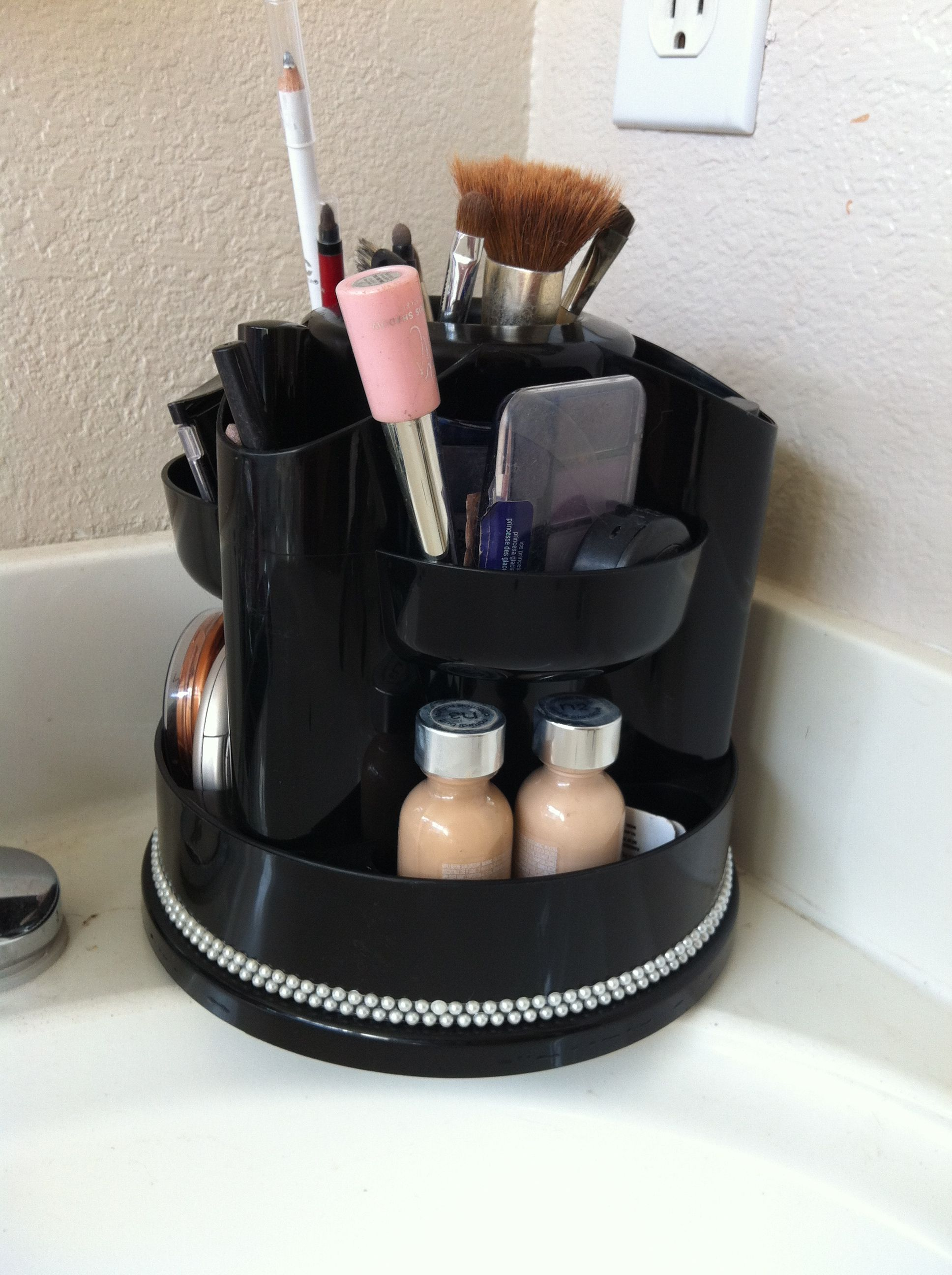 Small Desk Organizer Rotating Desk Organizer Used For Everyday Makeup 10 At