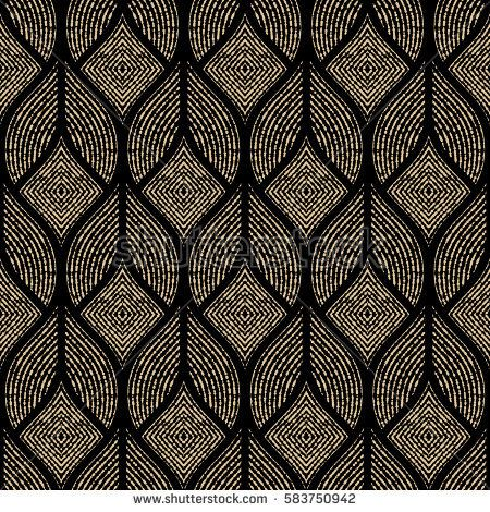The Geometric Abstract Pattern Seamless Vector Background Black