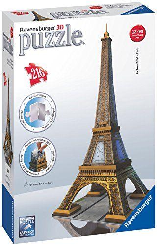 6b846b4110e Ravensburger Eiffel Tower 216 Piece 3D Building Set Ravensburger  http   www.amazon