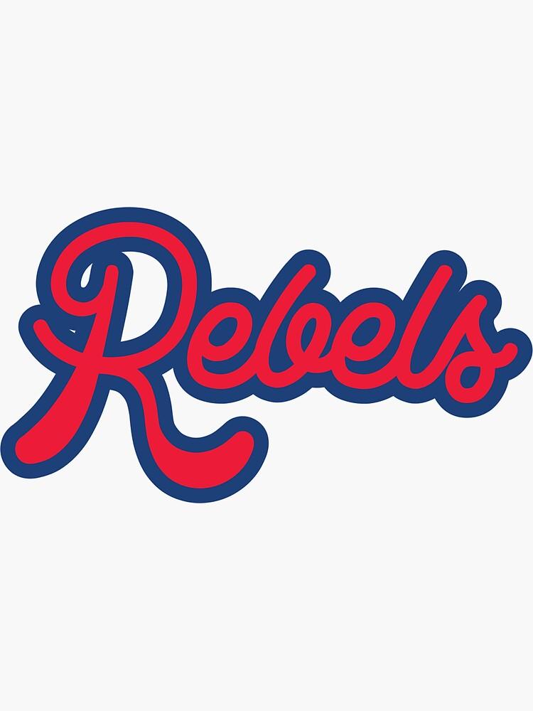 Rebels Sticker By Kendylmccartney Redbubble Stickers Sport Team Logos Cal Logo