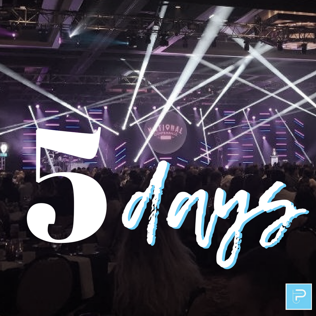 We have 5 more days until our National Conference of 2018