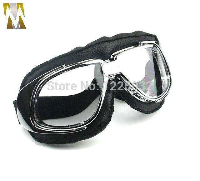 1 st cke vintage anti uv motorrad roller goggles helm. Black Bedroom Furniture Sets. Home Design Ideas