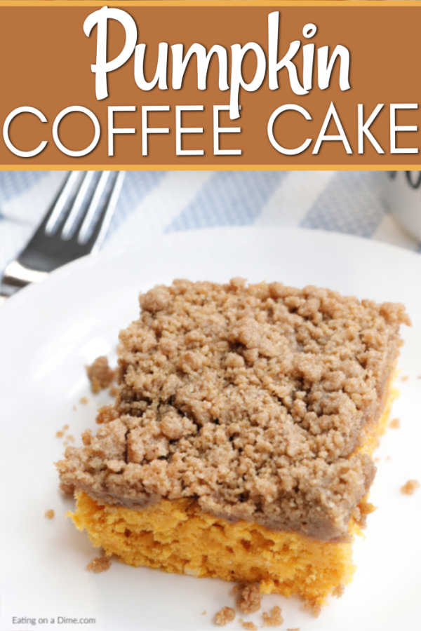 Pumpkin Coffee Cake Recipe Pumpkin coffee cakes, Cake