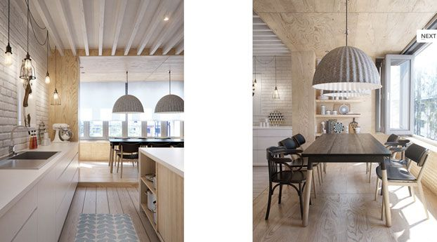 House in St. Petersburg - Interior inspiration - Design - Scandinavian design - wall art - furniture