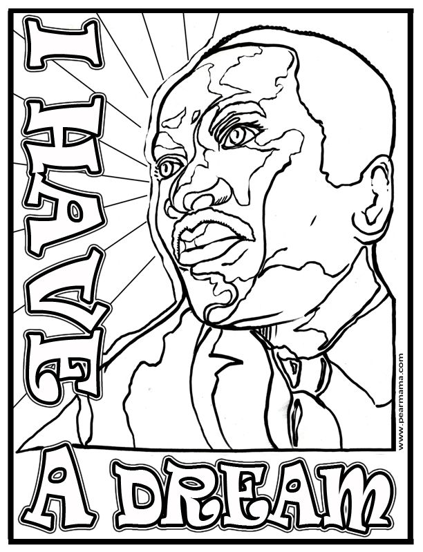 I Have A Dream Mlk Coloring Page Martin Luther King Martin