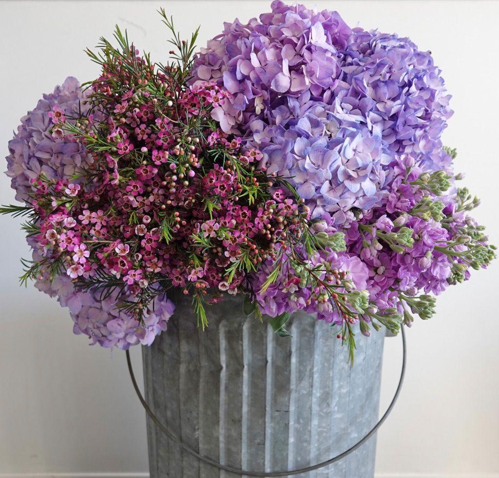 Buckets of Blooms…   Flower centerpieces, Beautiful ...