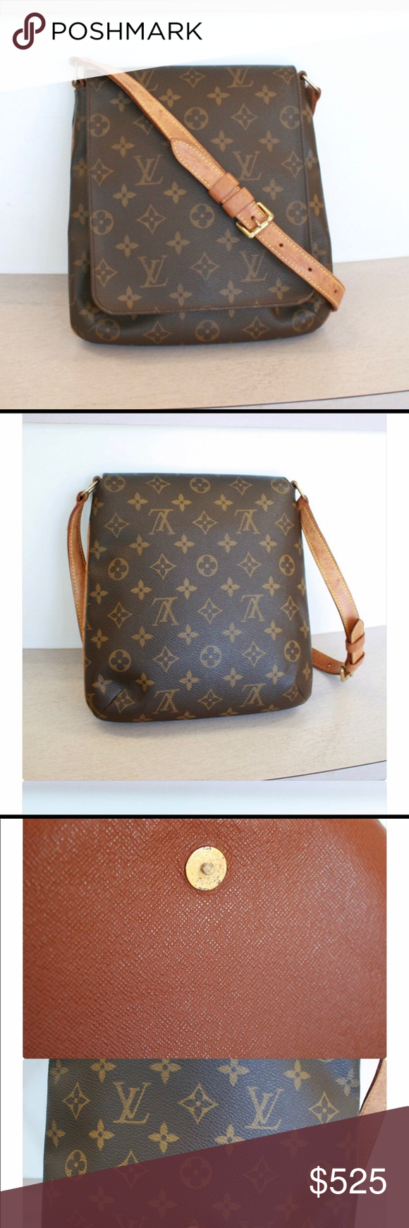25b90ddc2a700 Authentic Louis Vuitton Musette Salsa short strap The Louis Vuitton  Monogram Canvas Musette Salsa bag is