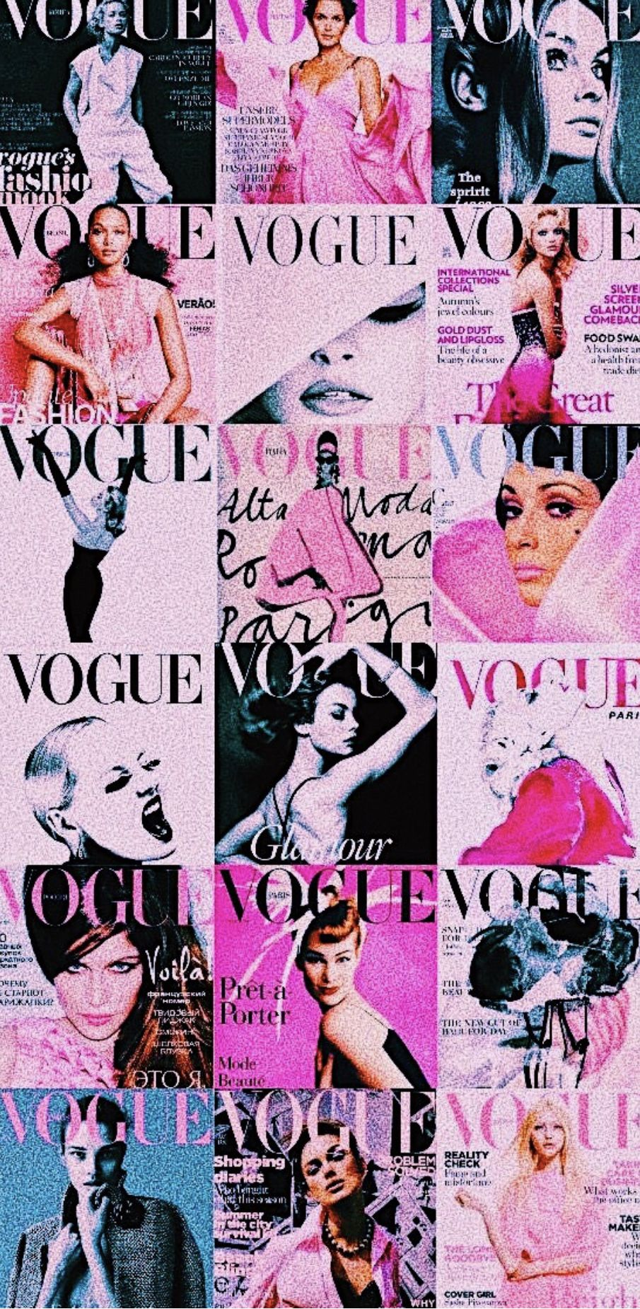 Makeup And Age Vogue Wallpaper Aesthetic Collage Collage Background