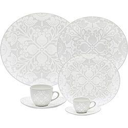 Aparelho De Jantar 30 Pecas Porcelana Lace Oxford Porcelanas