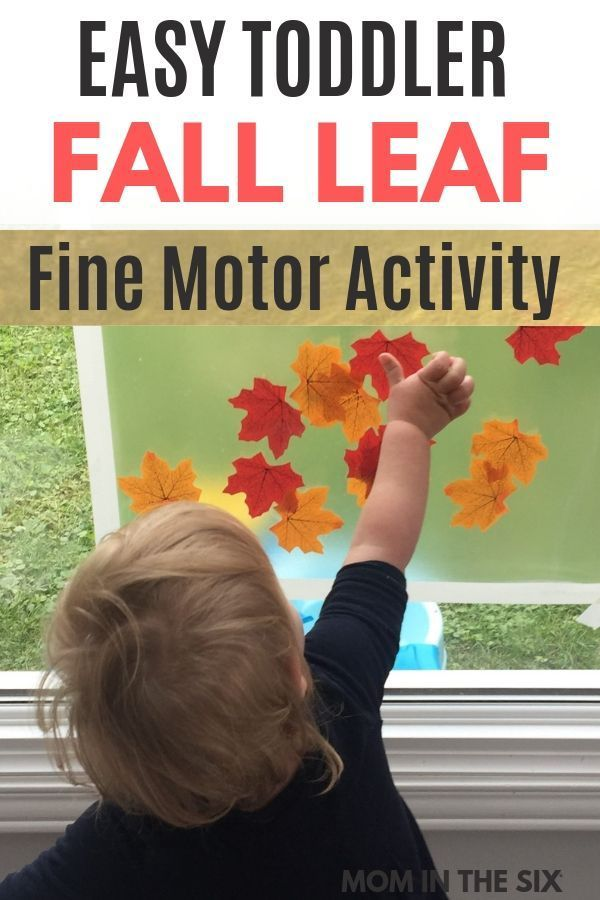 Easy Fall Leaf Craft for Preschoolers and Toddlers - Mom in the Six