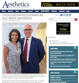 Aesthetics Journal With Mr Nigel Mercer President Of The British Association Of Plastic Reconstructive And Aesthetic Surgeons Aesthetic Clinic Aesthetic