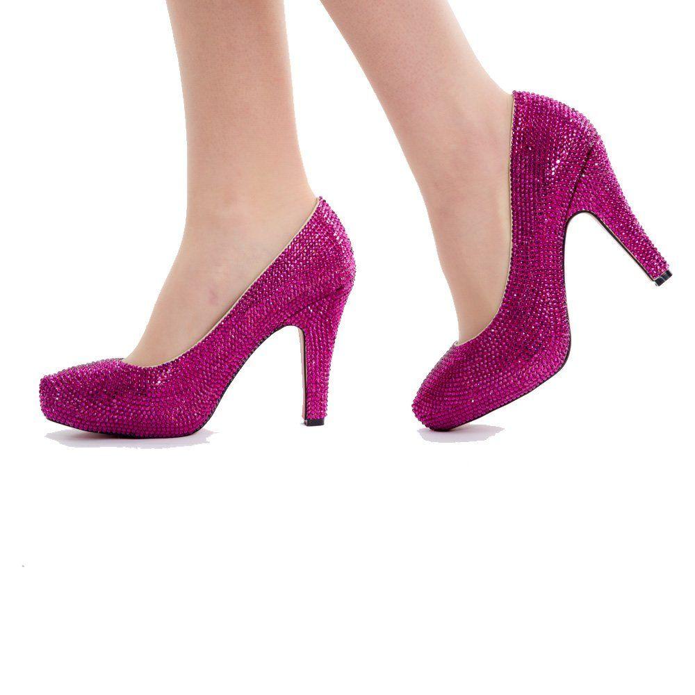 Hot Pink Short Heels  Tsaa Heel