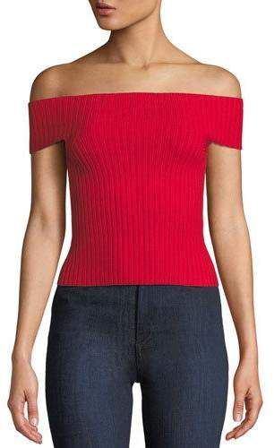 21eea49d7a7 Kate Spade New York Off-The-Shoulder Cropped Sweater