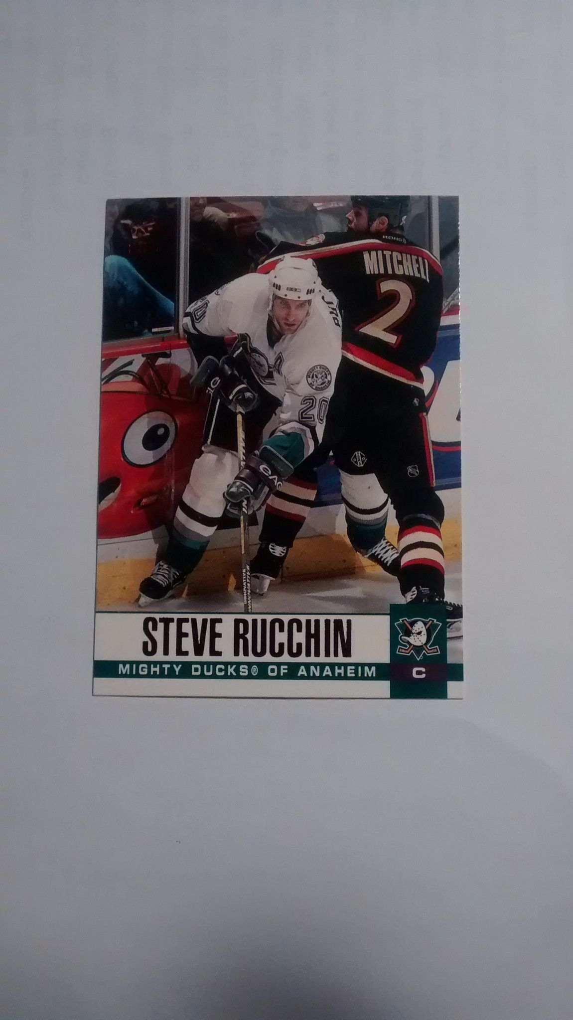 2003-04 PACIFIC HOCKEY RED #9 STEVE RUCCHIN ANAHEIM MIGHTY DUCKS