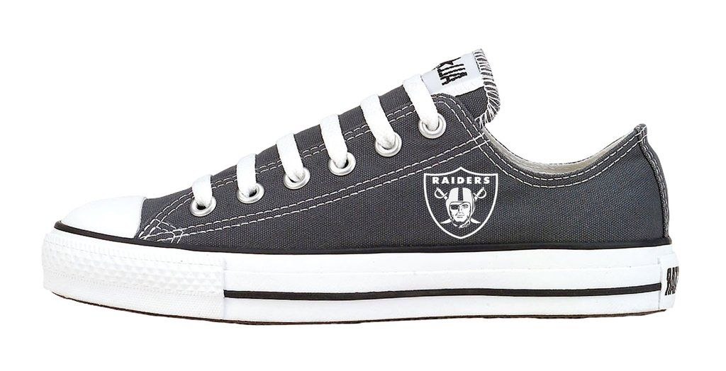 White Bandana Print Custom Black Converse Low Top Shoes