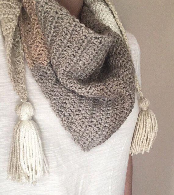 Caron Cakes Crochet Kerchief Scarf in Boston Cream | Crochet + ...