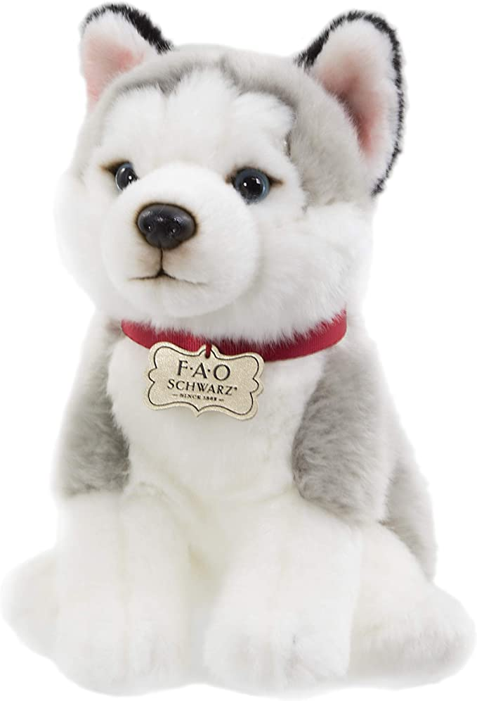 FAO Schwarz Puppy Floppy Husky Stuffed Animal