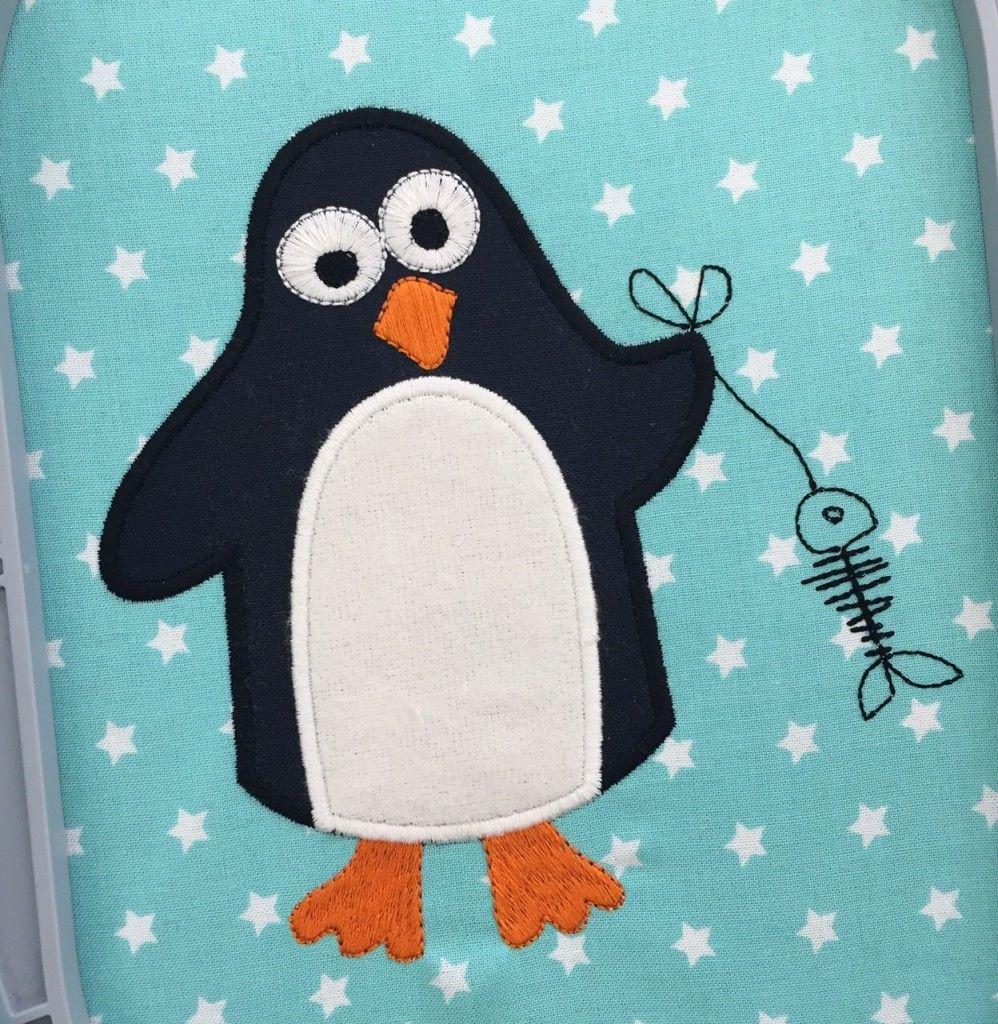 Pinguin-gestickt | Freebies - Embroidery | Pinterest | Applikationen ...