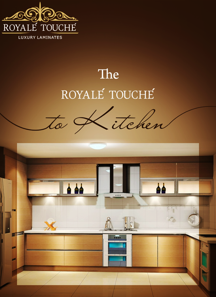 Nice Laminates To Make Your Kitchen Look Absolutely Royal. #RoyaleTouche # KitchenDesign #Ahmedabad #Pune