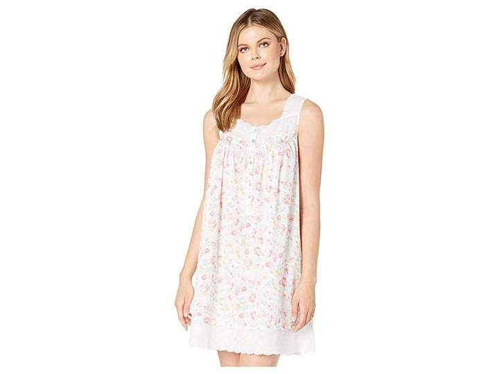 Eileen West Cotton Lawn Woven Sleeveless Short Chemise
