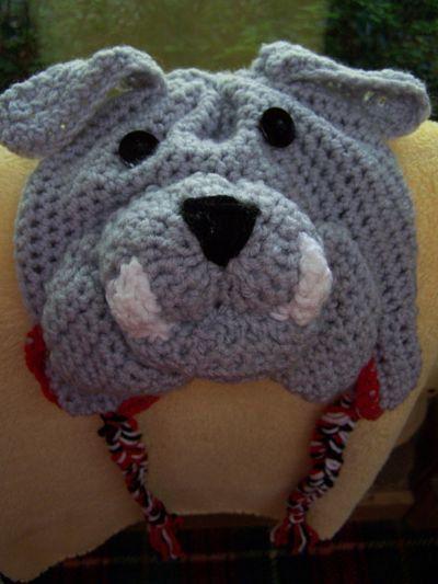 Georgia Bulldog Crochet Beanie  6c02f74e991