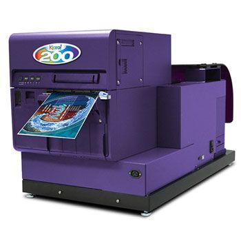 The Kiaro! 200 wide-width inkjet label printer prints in
