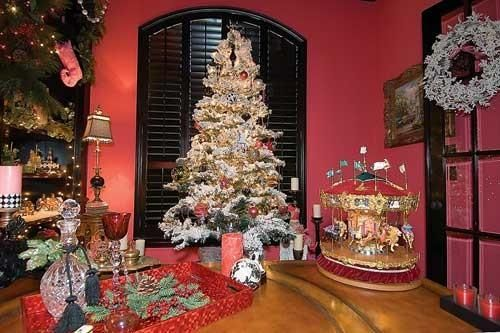 Elaborate decorations are a trademark of the annual CASA Christmas Home Tour.