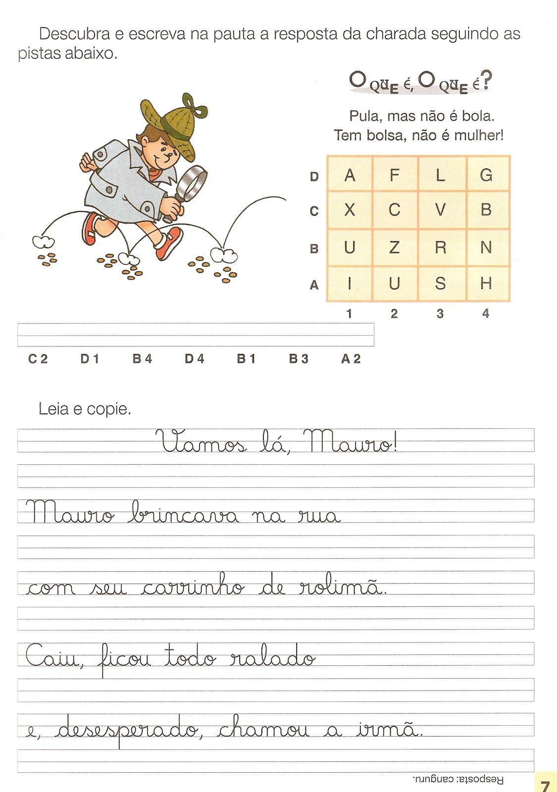 Favoritos Textos e Atividades de Caligrafia para imprimir | Educação  MD51