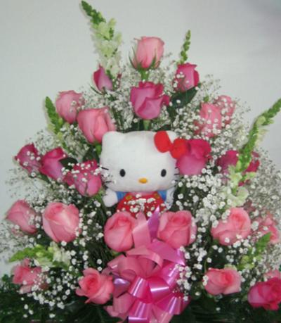 Arreglos Florales De Rosas Con Peluches Y Globos Flores