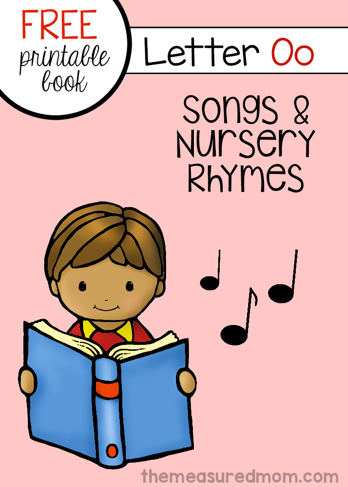 Songs and Rhymes for Letter O   Book letters, Lettering ...