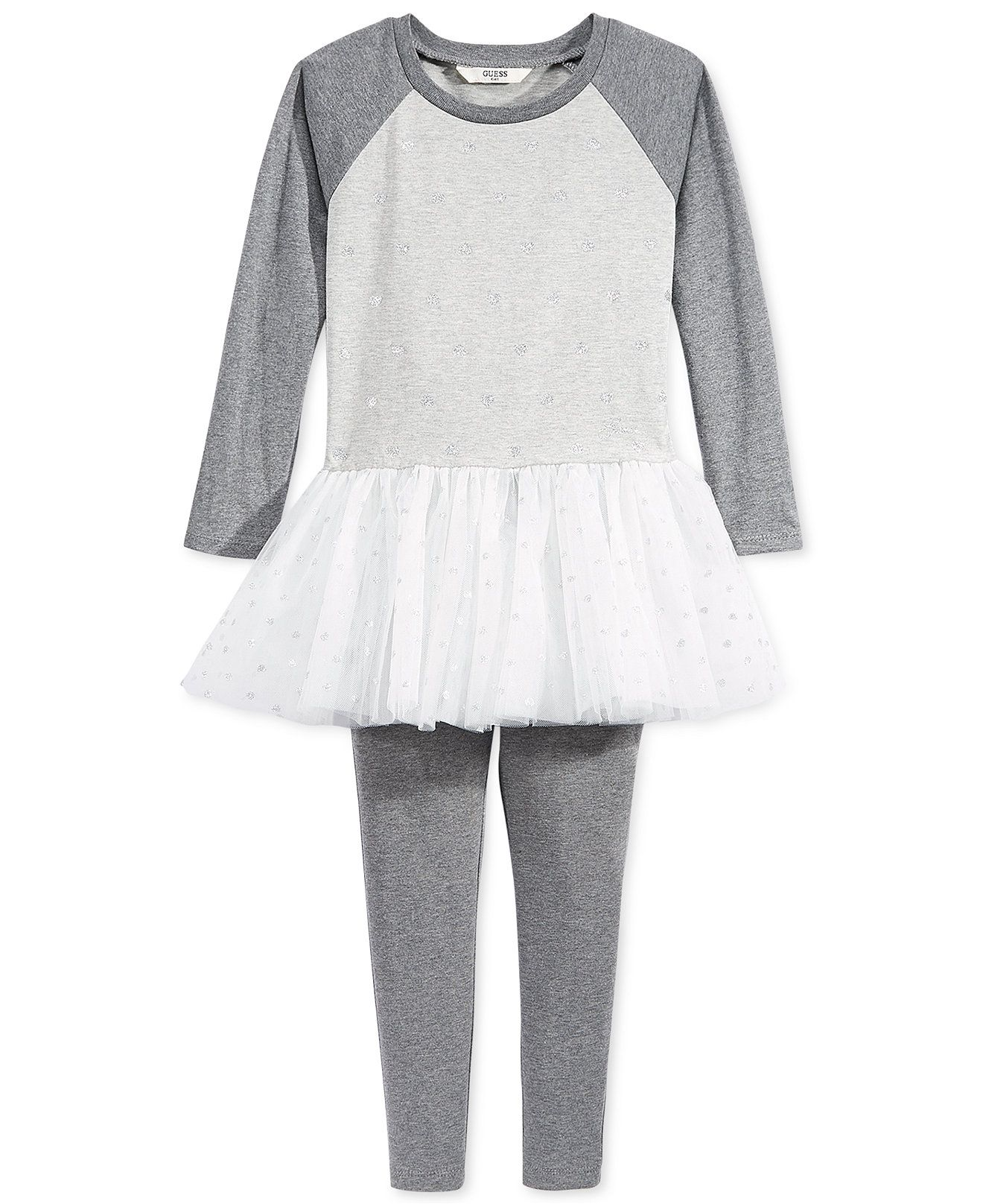 GUESS Little Girls 2 Piece Tutu Dress & Leggings Set Girls 2 6X
