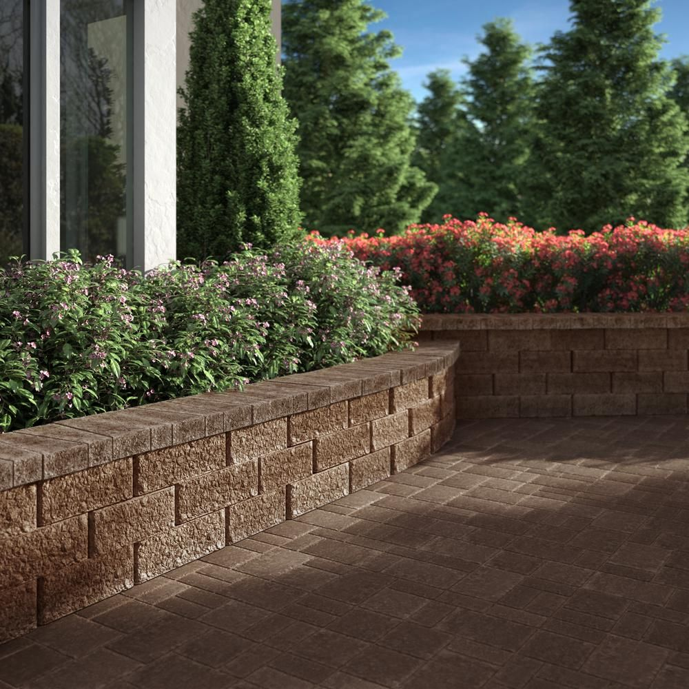 Pavestone Promuro 3 In X 5 25 In X 14 In Harvest Blend Concrete Wall Cap 150 Pcs 65 6 Lin Ft Concrete Retaining Walls Brick Wall Gardens Retaining Wall