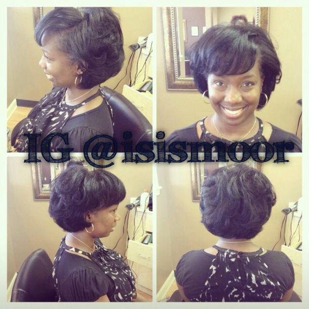 Silk press on natural hair | Flat iron hair styles, Medium ...