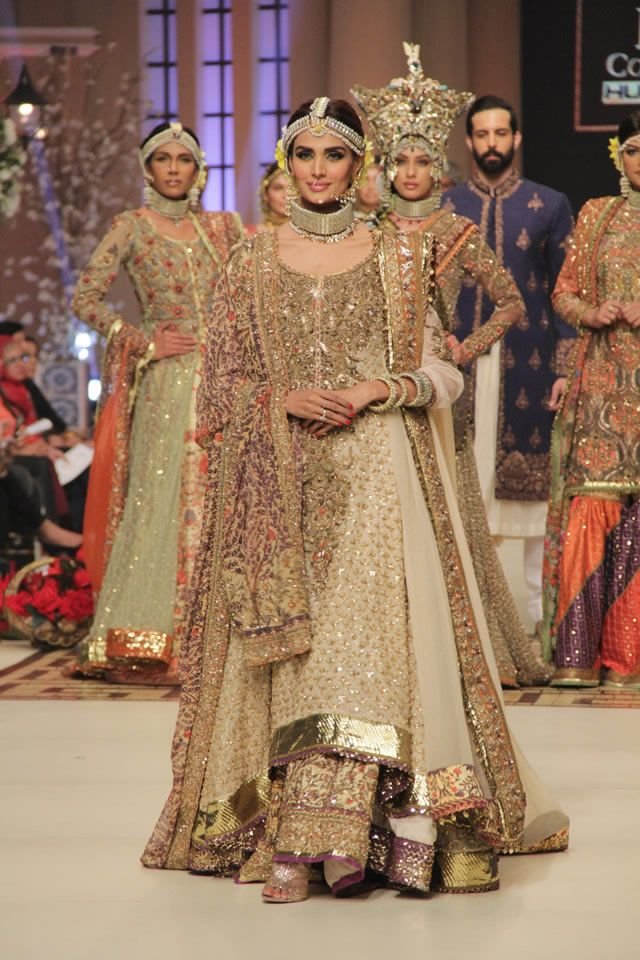 Fahad Hussayn Telenor Bridal Couture Week 2014 Collection | Kleider
